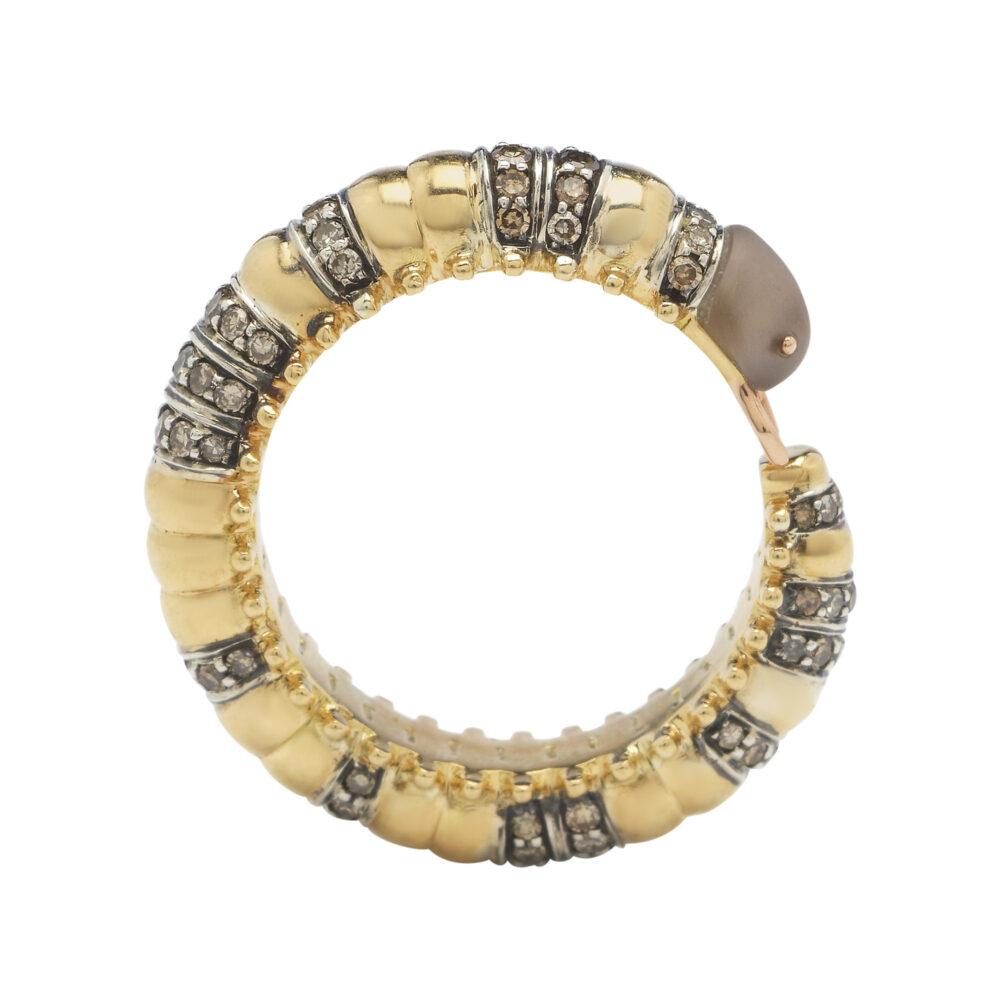 Bibi van der Velden_Ring Millipede Eternity Diamond