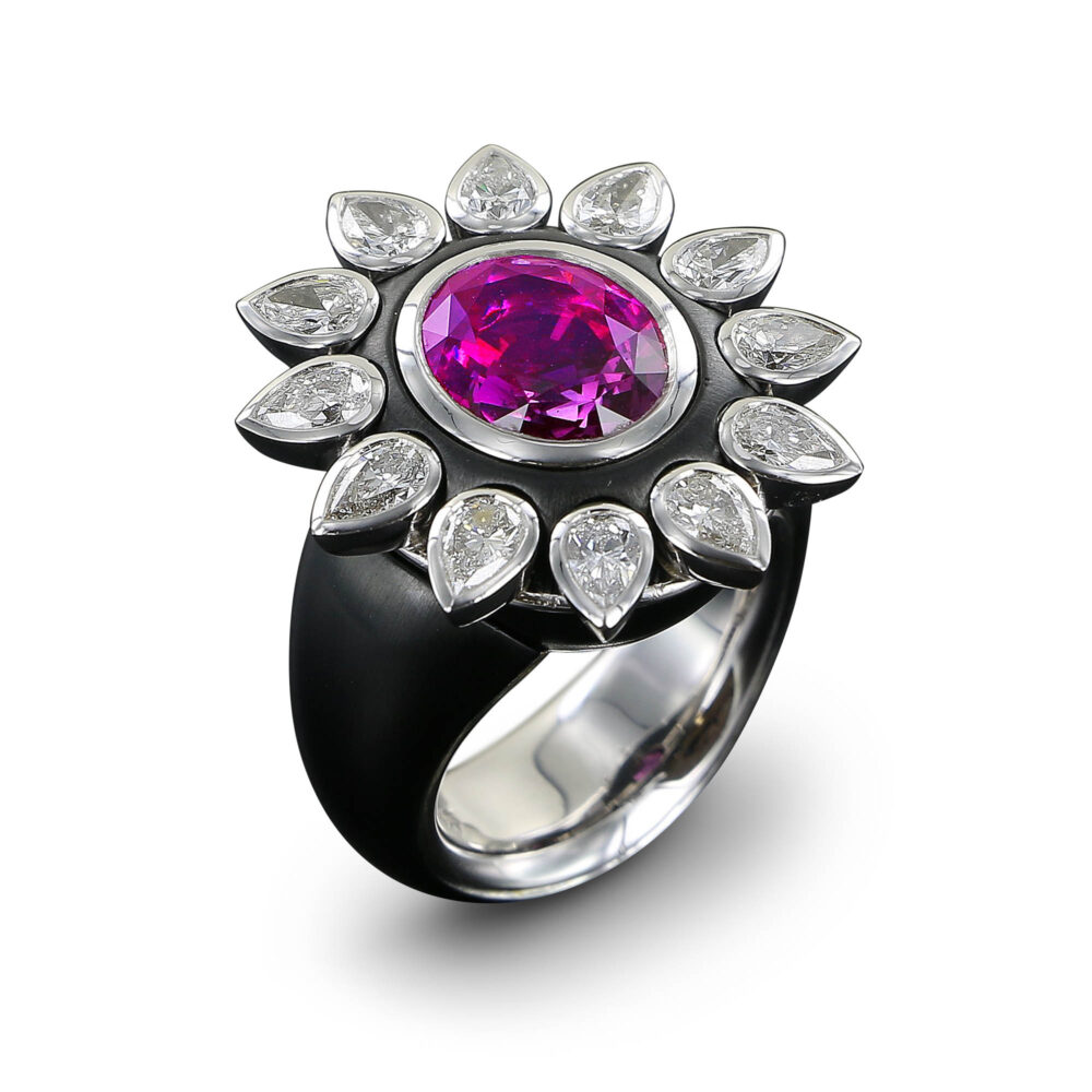 Meister 1881 Collection Ring Saphire